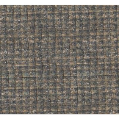 Nigel Multicolor Faux Tile Texture Wallpaper Sample