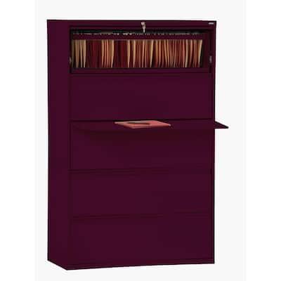 800 Series Burgundy File Cabinet