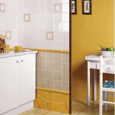 Novecento Bordura Camel 1-5/8 in. x 5-1/8 in. Ceramic Wall Trim Tile