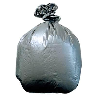 33 Gal. Silver Low Density Trash Bags (Case of 100)
