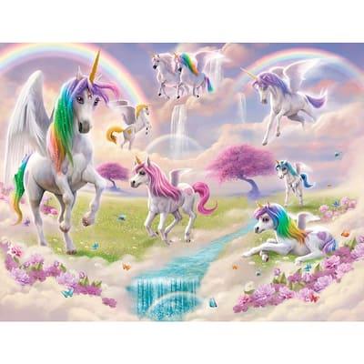 Multi Color Magical Unicorn Wall Mural