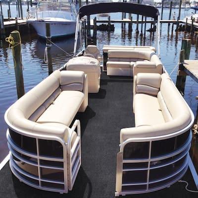 Seafront - Color Gunnel Gray 6 ft. Indoor/Outdoor Texture Marine Carpet