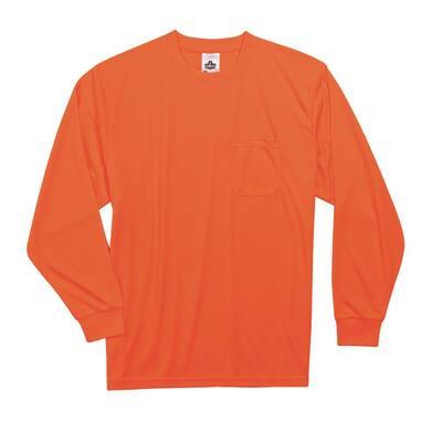 GloWear 2XL Hi Vis Orange Long Sleeve T-Shirt