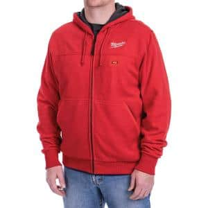 Men's 2X-Large M12 12-Volt Lithium-Ion Cordless Red Heated Hoodie Kit with (1) 1.5Ah Battery and Charger