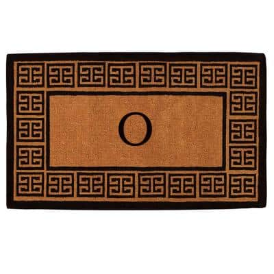 The Grecian Extra-Thick 24 in. x 36 in. Monogram O Door Mat