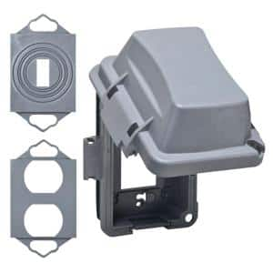 1-Gang Gray Weatherproof In-Use Cover