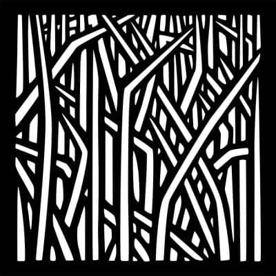 0.3 in. x 22.8 in. x 1.9 ft. Reeds Recycled Plastic Charcoal Wall Art