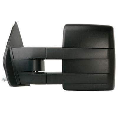 Towing Mirror for 09-12 Ford F150 Extendable with Signal and Puddle Lamp Textured Black Foldaway LH Heated Power