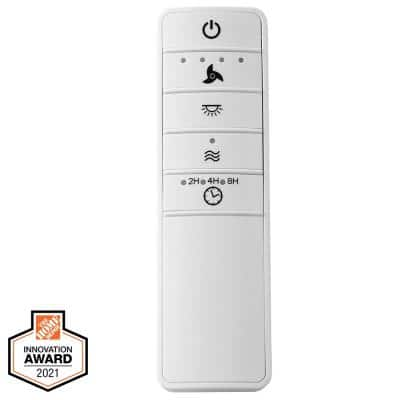 Universal Smart Wi-Fi 4-Speed Ceiling Fan White Remote Control Works with Google Assistant and Amazon Alexa