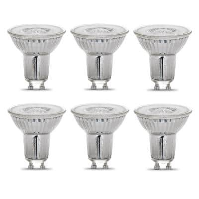 50-Watt Equivalent MR16 GU10 Dimmable Recessed Track Lighting 90+ CRI Flood LED Light Bulb, Bright White (6-Pack)