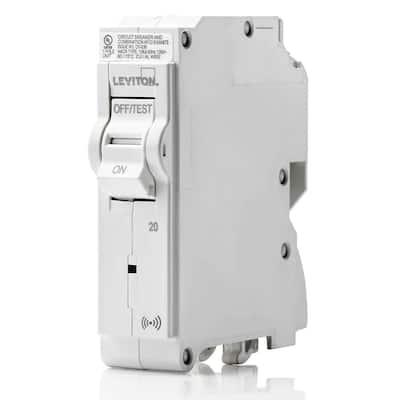 Smart Branch Circuit Breaker, Standard 1-Pole 20 Amp 120-Volt 10kA Interrupt Rating