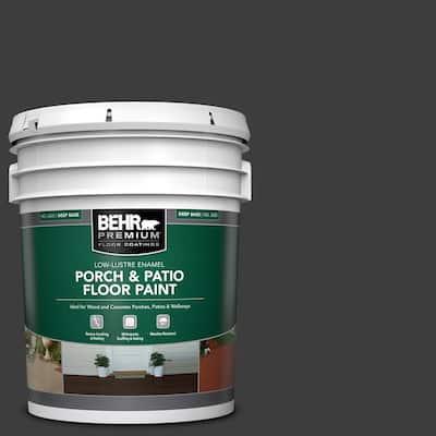 5 gal. Black Low-Lustre Enamel Interior/Exterior Porch and Patio Floor Paint