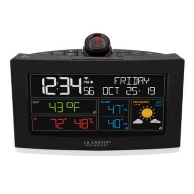 Wi-Fi Weather Projection Alarm Clock with AccuWeather Forecast and Remote Home Monitoring