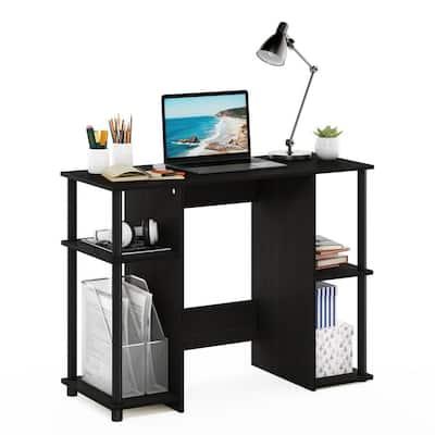 39 in. Rectangular Espresso Computer Desk with Open Storage