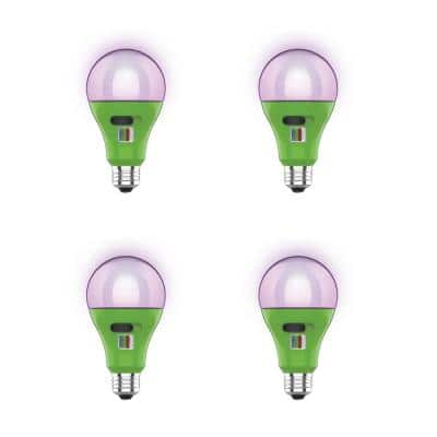 17-Watt A21 Selectable Spectrum for Seeding, Growing Blooming Indoor Greenhouse E26 Plant Grow LED Light Bulb (4-Pack)
