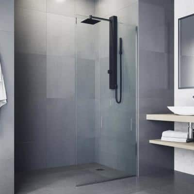 Orchid Retrofit 39 in. 2-Jet High Pressure Shower System with Fixed Rainhead and Handheld Dual Shower in Matte Black