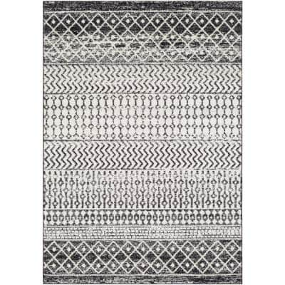 Laurine Black/White 8 ft. x 10 ft. Trellis Area Rug