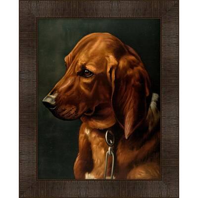 Portrait of Sorcerer Framed Giclee Dog Art Print 17 in. x 21 in.
