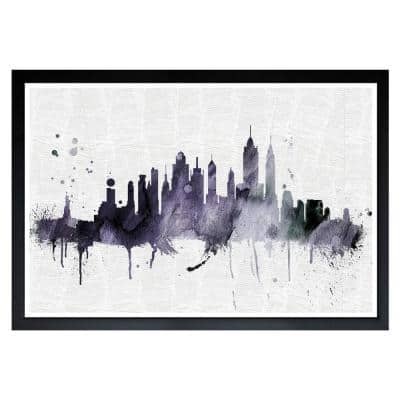 """""""NY Skyline"""" Framed Cities and Skylines Art Print 13 in. x 19 in."""