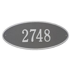 Whitehall Products Rectangular Monogram Estate Wall 1 Line Address Plaque Red Gold 5003rg The Home Depot