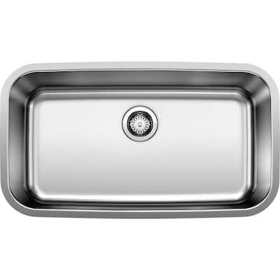 STELLAR Undermount Stainless Steel 28 in. Single Bowl Kitchen Sink