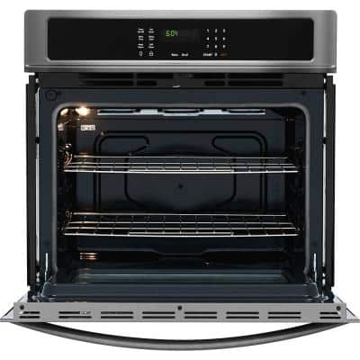 30 in. Single Electric Wall Oven Self-Cleaning in Black Stainless Steel