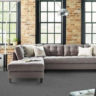 Scandi Chic - Color Nightfall Residential 9 in. x 36 in. Peel and Stick Carpet Tile (6 Tiles / Case)