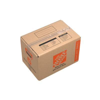 17 in. L x 11 in. W x 11 in. D Heavy-Duty Small Moving Box with Handles