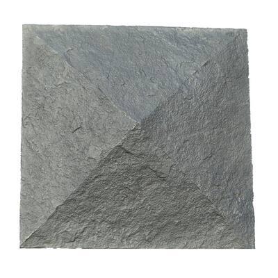 Sandstone 18 in. x 18 in. Charcoal Faux Polyurethane Stone Column Wrap Cap