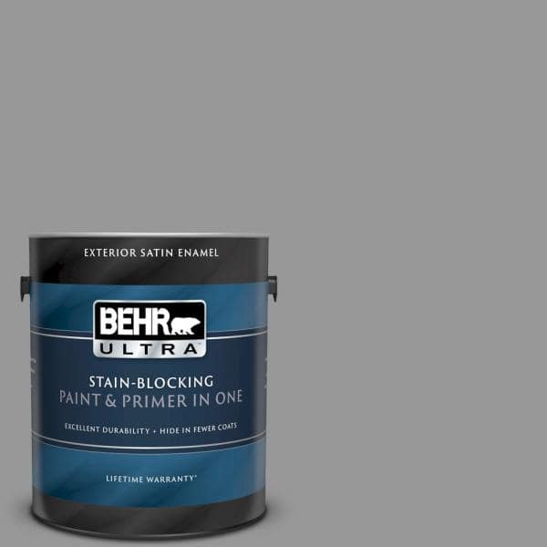 Reviews For Behr Ultra 1 Gal Home Decorators Collection Hdc Nt 10a Dolphin Gray Satin Enamel Exterior Paint Primer 985401 The Home Depot