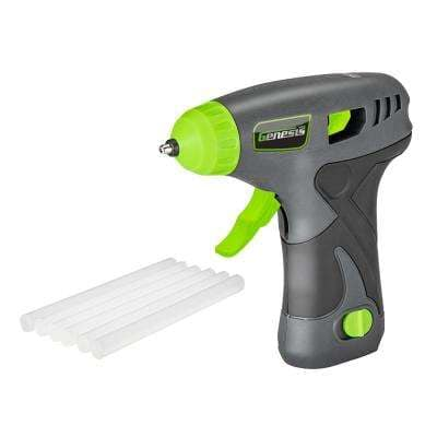 8-Volt Lithium-Ion Cordless Rapid Heat-Up Glue Gun with Battery Pack, Charging Stand, and 6 Glue Sticks