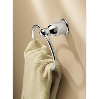 Mason Towel Ring in Chrome