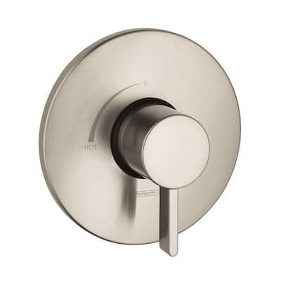 Metris S 1-Handle Pressure Balance Valve Trim Kit in Brushed Nickel (Valve Not Included)