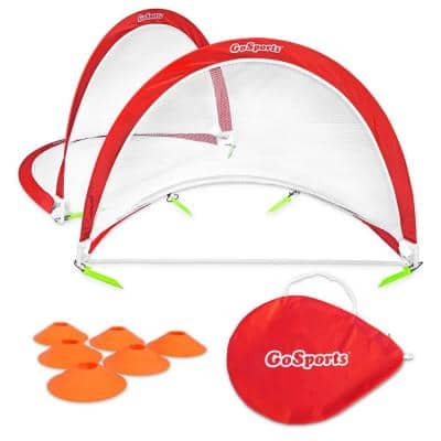 4 ft. Foldable Pop-Up Soccer Goals Set of 2 with Training Cones and Portable Carry Case