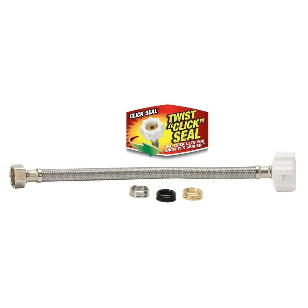 Fluidmaster Click Seal 3 8 In X 7 8 In X 12 In Universal Toilet Connector 4t12ucsp10 The Home Depot