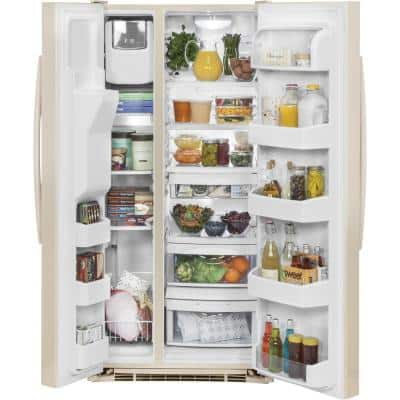 23.2 cu. ft. Side-By-Side Refrigerator in Bisque, ENERGY STAR