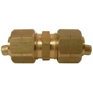 1/4 in. OD Compression Brass Coupling Fitting