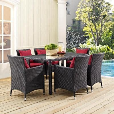 Convene in Espresso 59 in. Patio Wicker Outdoor Dining Table