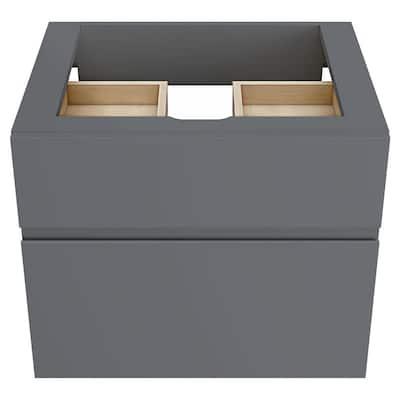 Studio S 24 in. Double Drawer Bath Vanity Cabinet Only in Dark Grey