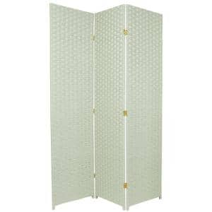 6 ft. Seagrass 3-Panel Room Divider