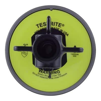 Testrite 3 in. PVC Schedule 40 Test Plug with Valve Fitting