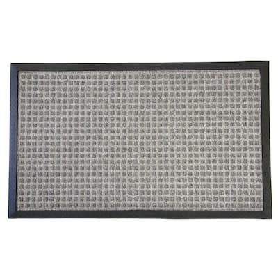 Nottingham Gray 24 in. x 36 in. Rubber Backed Carpet Mat