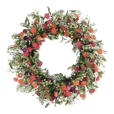30 in. Artificial Daisy Floral Spring Wreath