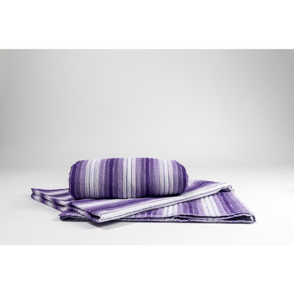 Ripple Purple 100% Cotton Beach Towel 2 PK