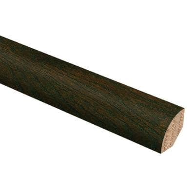 Oak Coffee 3/4 in. Thick x 3/4 in. Wide x 94 in. Length Hardwood Quarter Round Molding