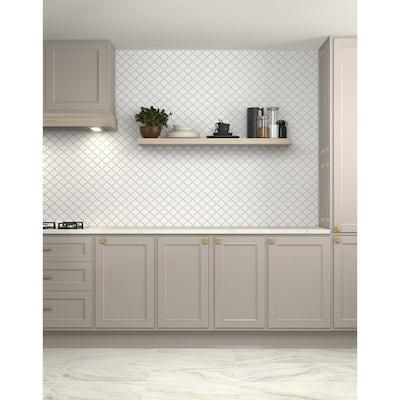 Restore Bright White 1/2 in. x 12 in. Glazed Ceramic Wall Jolly Trim Tile (0.04 sq. ft./ piece)