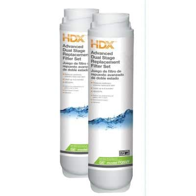 Dual Stage Replacement Water Filter Set (Fits GE GXSV65, GQSV65, GNSV70 and GNSV75 Systems)