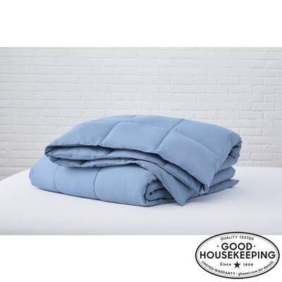 Washed Denim Microfiber King Comforter