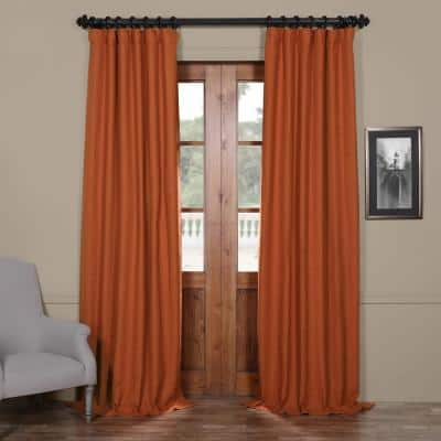 Persimmon Rod Pocket Blackout Curtain - 50 in. W x 96 in. L