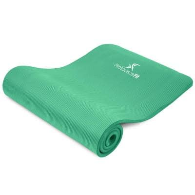 All Purpose Green 71 in. L x 24 in. W x 0.5 in. T Thick Yoga and Pilates Exercise Mat Non Slip (11.83 sq. ft.)